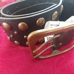 Zara Stad Wide Leather Belt